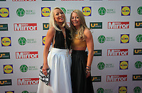 19/05/2015 <br /> (L to r) <br /> Esther & Caitriona McGovern <br /> during the Irish mirror pride of Ireland awards at the mansion house, Dublin.<br /> Photo: gareth chaney Collins