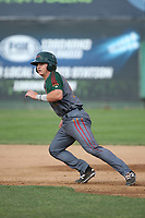 Bret Boswell (13) of the Boise Hawks runs the bases during a game against the Everett AquaSox at Everett Memorial Stadium on July 20, 2017 in Everett, Washington. Everett defeated Boise, 13-11. (Larry Goren/Four Seam Images)