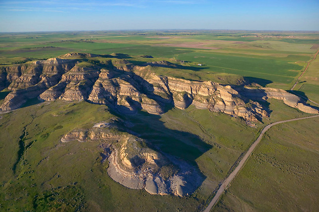 Patch of badlands at Theodore Roosevelt State Park