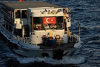 TURKEY Istanbul, ferry boat at Bosporus / TUERKEI Istanbul, Faehre am Bosporus