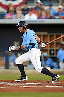 Charlotte Stone Crabs outfielder Josh Sale (15) during a game against the Bradenton Marauders on April 4, 2014 at Charlotte Sports Park in Port Charlotte, Florida.  Bradenton defeated Charlotte 9-1.  (Mike Janes/Four Seam Images)