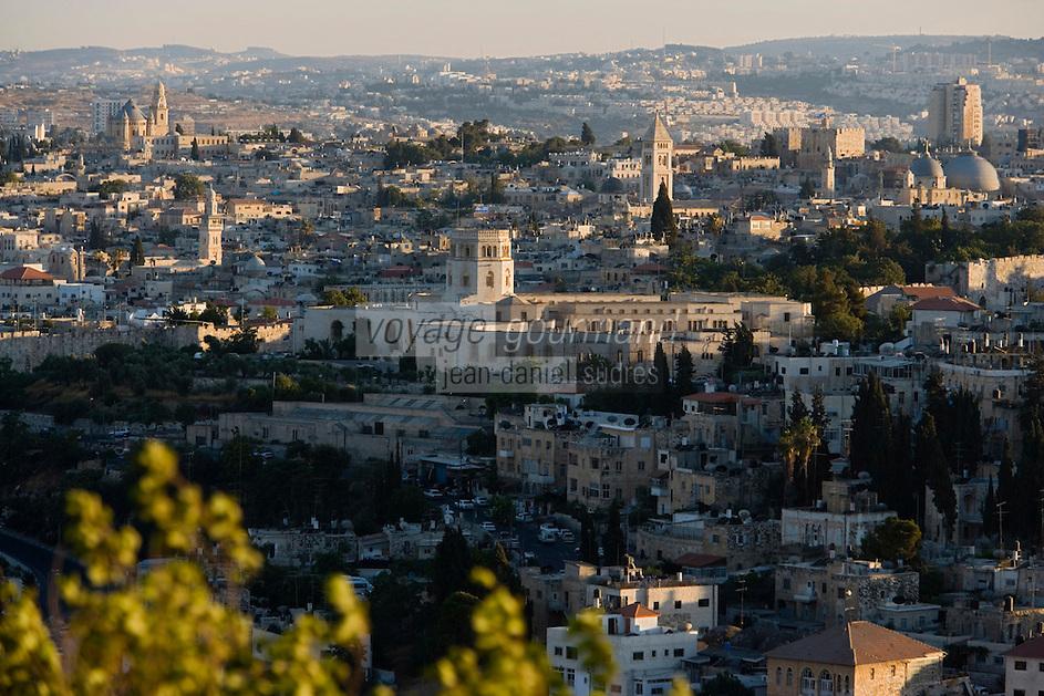 Asie/Israël/Judée/Jérusalem:EVieille ville de Jérusalem depuis le mont des Oliviers