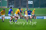 Darragh Kelly, Meath in action against Micheál O'Leary, Kerry, during the Round 1 meeting of Kerry and Meath in the Joe McDonagh Cup at Austin Stack Park in Tralee on Sunday.