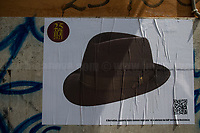 The Borsalino hat, the GAP Partizans and the Italian Resistance (Please check the QR Code to read the related Story).<br /> <br /> Rome, Italy. 25th Apr, 2021. Today, to mark the 76th Anniversary of the Italian Liberation from nazi-fascism (Liberazione), Azione Antifascista Roma Est, supported by ANPI Centocelle (National Association of Italian WWII Partizans), and various Antifascist organizations, movements, students, political parties, social centres, held a march (Corteo) from Piazza delle Camelie to Villa Gordiani's Park (1.), in Centocelle's district. The demonstration began with a rally in front of the Memorial dedicated to the Partizans of Centocelle victims of nazi-fascist occupation troops and retaliations, where Partizans and their relatives, activists, historians gave speeches to remember the population struggle and solidarity, to keep the memory and the lesson of the Resistenza alive and to reaffirm the values of Freedom and Justice of the Italian Antifascist Constitution as the only way to fight against fascist pulsions re-appearing all over the world.  <br /> On the 4th June 2018 the Centocelle's District was awarded of the State Gold Medal (for Civil Merit) for its Antifascist Resistance (2.).<br /> <br /> Footnotes & Links: <br /> 1. http://bit.do/fQB69 <br /> 2. http://bit.do/fQB7m <br /> Previous 25 Aprile's Events:<br /> - 25 Aprile 2020: http://bit.do/fQB77 <br /> - I Partigiani http://tiny.cc/cwi3nz<br /> - 25 Aprile 2019 (at Ferramonti di Tarsia concentration camp) http://bit.do/fQB8i <br /> - 25 Aprile 2018 http://tiny.cc/dsi3nz<br /> http://www.anpi.it <br /> (Source, Wikipedia.org ENG) The Liberazione: https://en.wikipedia.org/wiki/Liberation_Day_(Italy)