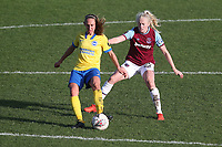 Aileen Whelan of Brighton and Grace Fisk of West Ham during West Ham United Women vs Brighton & Hove Albion Women, Barclays FA Women's Super League Football at the Chigwell Construction Stadium on 15th November 2020