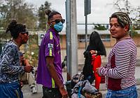 """Migrantes reciben atención medica, alimentación, aseo personal y un lugar para descansar en el comedor Comunitario de la Colonia San Luis de Hermosillo Sonora.<br /> <br /> La Caravana del Migrante con un contingente de alrededor de 600 personas en su mayoría de origen centroamericano, arribo a Hermosillo Sonora a bordo del tren conocido como """"La Bestia"""", provienen de la frontera Sur del País y con rumbo a la ciudad de Mexicali donde continuaran el viaje hasta Tijuana.<br /> La caravana tiene como objetivo solicitar <br /> asilo a Estados Unidos y algunos integrantes piensan solicitar una visa humanitaria en México para laborar en los campos de Sonora y Baja California.<br /> (Photo: NortePhoto/Luis Gutiérrez)"""