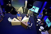 SCHAATSEN: SCHAATS TV  GEWEST FRYSLÂN, uitzending 27-11-2020, Henk Hospes, presentator Sytse Prins, Marrit Fledderius, ©foto Martin de Jong