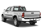 Rear three quarter view of a 2008 Toyota Tacoma Access Cab TRD