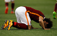 Calcio, Serie A: Roma vs Fiorentina. Roma, stadio Olimpico, 4 marzo 2016.<br /> Roma's Mohamed Salah celebrates after scoring during the Italian Serie A football match between Roma and Fiorentina at Rome's Olympic stadium, 4 March 2016.<br /> UPDATE IMAGES PRESS/Riccardo De Luca