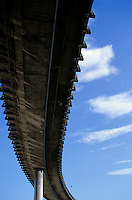 The A55 viaduct seen from underneath, Marseille, France.
