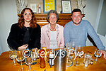Enjoying the evening in Bella Bia on Friday, l to r: Aoife O'Neill, Carmel Quilter O'Neill and Brendan O'Neill from Ballyard.
