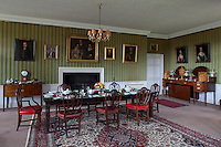 The dining room is hung with family portraits, which, following their dispersal in the mid-nineteenth century, have gradually been reassembled