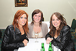 Jacqui Moran, Lisa van der Werff and Aoife Duffy at the quiz in aid of Niall Mellon Building Project in the Boyne Valley Hotel...(Photo credit should read Jenny Matthews www.newsfile.ie)....This Picture has been sent you under the condtions enclosed by:.Newsfile Ltd..The Studio,.Millmount Abbey,.Drogheda,.Co Meath..Ireland..Tel: +353(0)41-9871240.Fax: +353(0)41-9871260.GSM: +353(0)86-2500958.email: pictures@newsfile.ie.www.newsfile.ie.