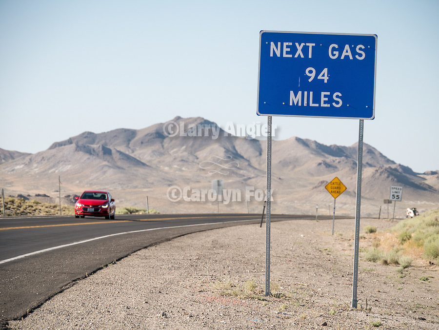 Next Gas, 94 miles, Tonopah, Nev. (US 95)