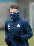 St Johnstone Training…30.03.18<br />Kyle McClean well wrapped up during training this morning at McDiarmid Park ahed of tomorrows game at Aberdeen<br />Picture by Graeme Hart.<br />Copyright Perthshire Picture Agency<br />Tel: 01738 623350  Mobile: 07990 594431
