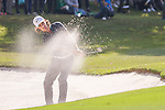 Tommy Fleetwood of England gets his ball out of a bunker during the 58th UBS Hong Kong Golf Open as part of the European Tour on 11 December 2016, at the Hong Kong Golf Club, Fanling, Hong Kong, China. Photo by Vivek Prakash / Power Sport Images