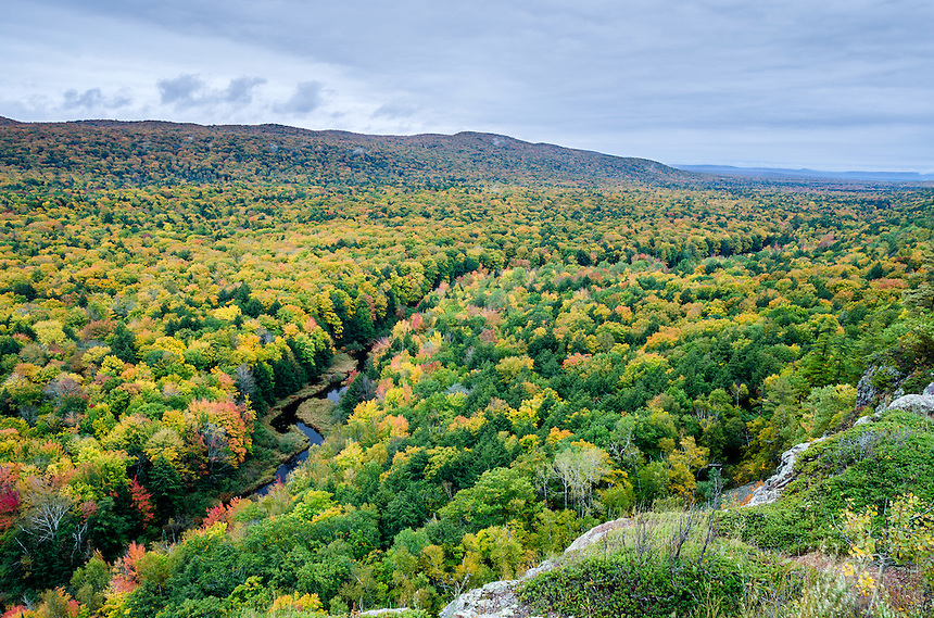 A sea of autumn color. Porcupine Mountains, Western U.P. of Michigan.