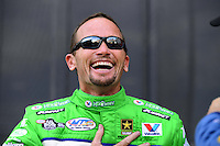 Sept. 14, 2012; Concord, NC, USA: NHRA funny car driver Jack Beckman during qualifying for the O'Reilly Auto Parts Nationals at zMax Dragway. Mandatory Credit: Mark J. Rebilas-