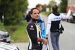 MTN-Qhubeka team helper at the feed zone in Pozzo Sant'Evasio during the 2015 96th Milan-Turin 186km race starting at San Giuliano Milanese, Italy. 1st October 2015.<br /> Picture: Eoin Clarke | Newsfile
