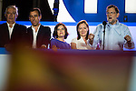 Soraya Saenz de Santamaria, Elvira Fernandez Balboa, Mariano Rajoy and Maria Dolores de Cospedal during the celebration of the victory of the Spanish Elections at the headquarter of Partido Popular in Madrid. June 26, 2016. (ALTERPHOTOS/BorjaB.Hojas)