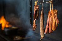 France, île de la Réunion, Saint Paul, Saint Gilles les Bains, Viande  boucanée  //  France, Ile de la Reunion (French overseas department), Saint Paul, Saint Gilles les Bains,  Smoked meat