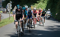 Chris Froome (GBR/SKY) trying to force the pace up the finish climb of the Dauphiné: the Plateau de Solaison (HC/1508m/11.3km @9.2%)<br /> <br /> 69th Critérium du Dauphiné 2017<br /> Stage 8: Albertville > Plateau de Solaison (115km)