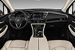 Stock photo of straight dashboard view of 2018 Buick Envision Premium-II-AWD 5 Door SUV Dashboard