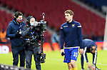 St Johnstone v Hibs…23.01.21   Hampden     BetFred Cup Semi-Final<br />David Wotherspoon leaves the pitch after the warmup<br />Picture by Graeme Hart.<br />Copyright Perthshire Picture Agency<br />Tel: 01738 623350  Mobile: 07990 594431