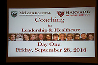 Coaching in Leadership and Healthcare Conference by the Institute of Coaching and Harvard Medical School at the Renaissance Hotel Boston, MA September 28 and 29, 2018