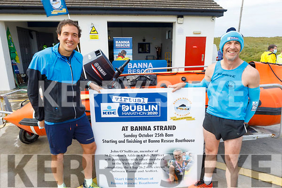 Myses Olalee and John O'Sullivan launching the Banna Sea and Rescue fundraising Dublin Virtual Marathon, which will take place on Sunday October the 25th at the boat house.