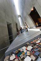 Asie/Israël/Judée/Jérusalem: Yad Vashem le Musée Mémorial créé en mémoire aux victimes de l'Holocauste -Architecte: Moshé Sfadie