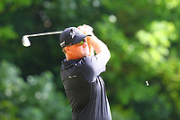 Peter Hanson tees off at the 2nd during the BMW PGA Golf Championship at Wentworth Golf Course, Wentworth Drive, Virginia Water, England on 28 May 2017. Photo by Steve McCarthy/PRiME Media Images.