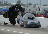 Apr. 30, 2011; Baytown, TX, USA: NHRA funny car driver Terry Haddock during qualifying for the Spring Nationals at Royal Purple Raceway. Mandatory Credit: Mark J. Rebilas-