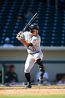 Surprise Saguaros Connor Joe (6), of the Pittsburgh Pirates organization, during a game against the Mesa Solar Sox on October 14, 2016 at Sloan Park in Mesa, Arizona.  Mesa defeated Surprise 10-4.  (Mike Janes/Four Seam Images)