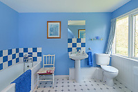 """BNPS.co.uk (01202) 558833. <br /> Pic: KnightFrank/BNPS<br /> <br /> Pictured: Holiday let bathroom. <br /> <br /> A castle that was burnt down by a pirate, involved in the English Civil War and has been in the same family for five centuries is on the market for offers over £650,000.<br /> <br /> Kilberry Castle, which dates back to the 15th century, has an incredible history and still has a wealth of original features including a 288-year-old mausoleum.<br /> <br /> It sits in 21 acres of land on the Scottish west coast, with stunning views over Kilberry Bay and out to the islands of Islay, Jura and Gigha.<br /> <br /> The four-storey tower house now needs a buyer """"with deep pockets and great imagination"""" to carry out a complete refurbishment but it has a lot of potential."""