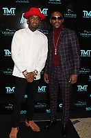 MIAMI, FL - FEBRUARY 19: P-Reala & Floyd Mayweather  attend his 44th futuristic Birthday Party at Casablanca on the Bay on February 19, 2021 in Miami, Florida. Photo Credit: Walik Goshorn/Mediapunch