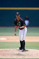 Bradenton Marauders relief pitcher Jess Amedee (31) looks in for the sign during a game against the Charlotte Stone Crabs on June 3, 2018 at LECOM Park in Bradenton, Florida.  Charlotte defeated Bradenton 10-1.  (Mike Janes/Four Seam Images)