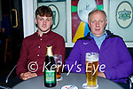 Enjoying the evening in Killarney on Thursday, l to r: John and Jack O'Dwyer from Doon, Ballybunion