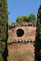 """The """"Mausoleum"""", among the ancient Roman remains in Villa Gordiani. A classic view (Rome, 2020).<br /> <br /> Il """"Mausoleo"""", tra le antiche rovine Romane in Villa Gordiani. Una vista classica (Roma, 2020)."""