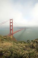 Fog sets in around Golden Gate Bridge in San Francisco