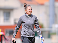 Head coach Audrey Demoustier of Woluwe pictured during a female soccer game between FC Femina White Star Woluwe and SV Zulte Waregem on the fifth matchday of play off 2 in the 2020 - 2021 season of Belgian Scooore Womens Super League , Saturday 8 th of May 2021  in Woluwe , Belgium . PHOTO SPORTPIX.BE   SPP   DAVID CATRY