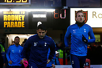 Harry Kane of Tottenham Hotspur enters the pitch to warm up prior to kick off of the Fly Emirates FA Cup Fourth Round match between Newport County and Tottenham Hotspur at Rodney Parade, Newport, Wales, UK. Saturday 27 January 2018