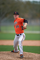 Baltimore Orioles Garrett Cortright (36) during a minor league Spring Training game against the Minnesota Twins on March 16, 2016 at CenturyLink Sports Complex in Fort Myers, Florida.  (Mike Janes/Four Seam Images)