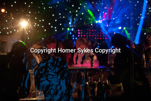Private party Hampshire. marquee  in garden night club. 2000s.
