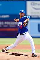Zack Wheeler #49 of the Las Vegas 51's pitches against the Salt Lake Bees at Cashman Field on May 27, 2013 in Las Vegas, Nevada. Las Vegas defeated Salt Lake City, 9-7. (Larry Goren/Four Seam Images)