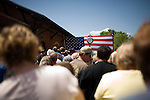 May 4, 2008. Marion, NC.. Just 2 days before the North Carolina primary, former president Bill Clinton campaigned across rural western North Carolina, stumping for his wife. Senator Hillary Clinton, in her drive for rural and working class votes.. Supporters wait for Mr. Clinton, he was a half ad hour late.