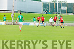 Fossa's David Clifford raises the green flag in the opening minute against Ballyduff in the Junior Premier Football Club Championship.