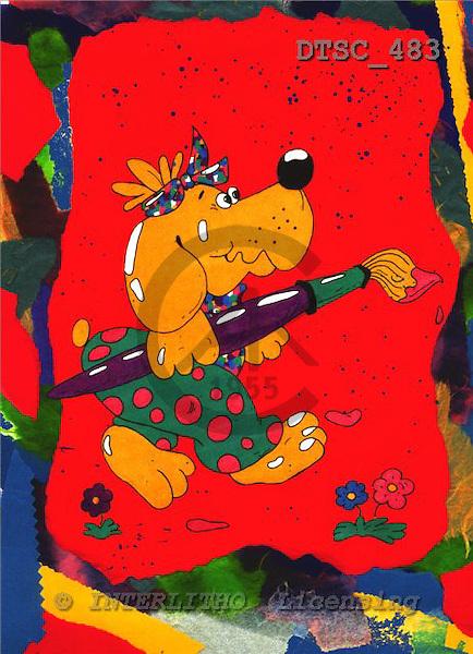 Hans, CUTE ANIMALS, paintings+++++,DTSC483,#AC# deutsch, illustrations, pinturas