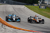 #5: Pato O'Ward, Arrow McLaren SP Chevrolet and #10: Felix Rosenqvist, Chip Ganassi Racing Honda