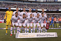 PHILADELPHIA, PENNSYLVANIA - JUNE 30: Starting Eleven of the United States during the 2019 CONCACAF Gold Cup quarterfinal match between the United States and Curacao at Lincoln Financial Field on June 30, 2019 in Philadelphia, Pennsylvania.